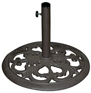 TropiShade 30-Pound Bronze Powder-Coated Cast Iron Umbrella Stand from Galtech