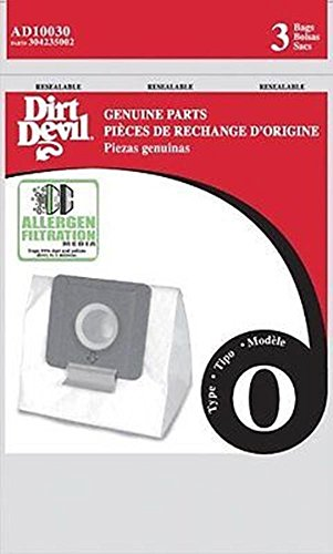 Vacuum Cleaner Bags Dirt Devil Type O Allergen Vacuum Bags (9-Pack), AD10030 (Steam O Belt compare prices)