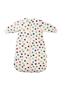 Slumbersac Winter Travel Baby Sleeping Bag Long Sleeves approx. 3.5 Tog - Bubble Dot - 6-18 months