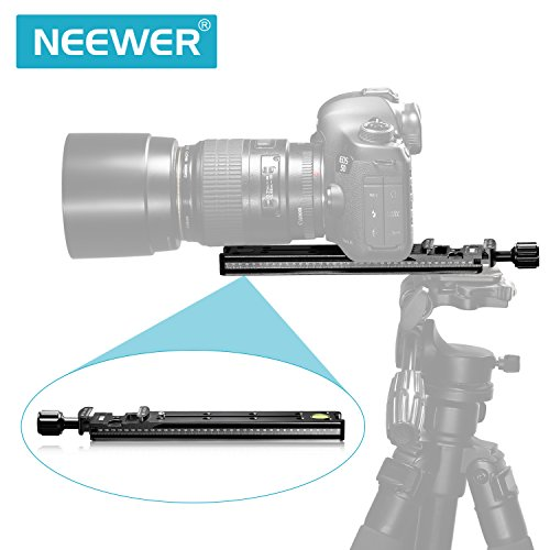 NEEWER 200mm ノーダル スライドプレート クイックリリースクランプ付き Arca Swiss付きカメラ適用【並行輸入品】
