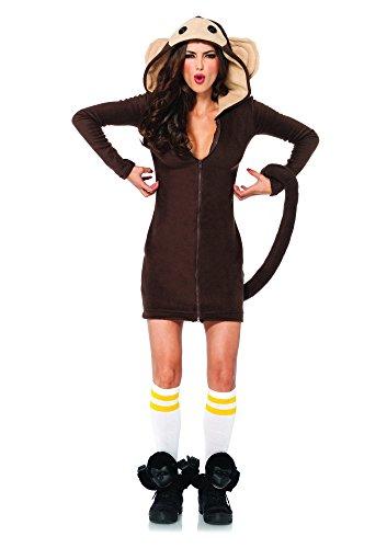 Leg Avenue Women's Cozy Monkey Costume, Brown, Large