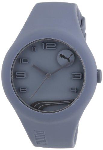 Esprit A.PU103001005 - Reloj analógico de cuarzo para hombre con correa de silicona, color gris
