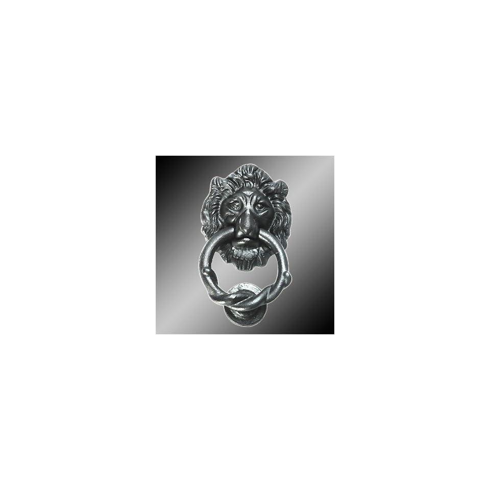 Door Knockers Black Cast Iron, Lion Head Door Knocker Iron Black 6H x 3 3/4W  15864