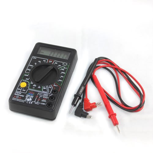 Digital Lcd Ohm Amp Ac Dc Volt Meter Multimeter Tester