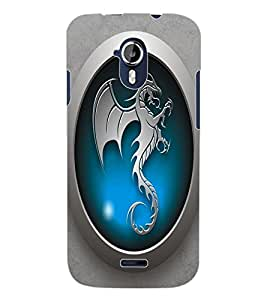 ColourCraft Dragon Art Design Back Case Cover for MICROMAX CANVAS MAGNUS A117