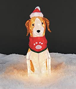 "Amazon.com : 30"" TALL TINSEL BEAGLE CHRISTMAS PROP DECORATION OUTDOOR"