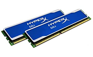 Kingston Technology HyperX Blu 4GB 1600MHz DDR3 Non-ECC CL9 DIMM (Kit of 2) XMP KHX1600C9D3B1K2/4GX