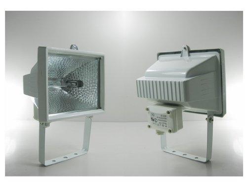 Außenstrahler Fluter Halogenstrahler 500W R7S IP44 WHI
