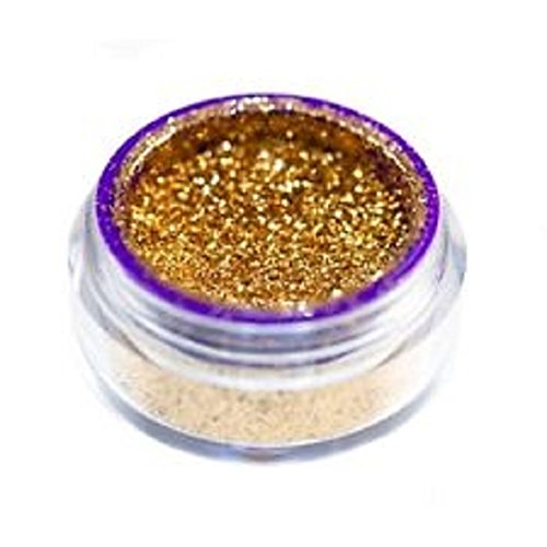 3g Jar 24k Gold Glimmer Dupe Shimmer Loose Pigment Eyeshadow Dust Use Wet or Dry Custom Dark Yellow Glitter (Clear Pink Tint Nail Polish compare prices)