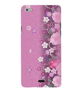 Printvisa Pink Floral Pattern Back Case Cover for Micromax Canvas Sliver 5 Q450::Micromax Canvas Silver 5