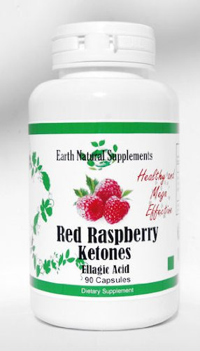 Red Raspberry Ketones / Ketone - Earth Natural - 90 Capsules - Antioxidant and Fat Burner