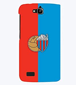 TOUCHNER (TN) Red Blue Logo Back Case Cover for Huawei Honor Holly