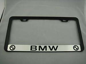 Bmw Black License Plate Frame W Black Caps