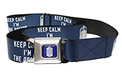Dr. Who KEEP CALM I'M THE DOCTOR Navy/White - Seatbelt Belt