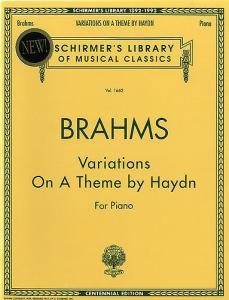 Johannes Brahms Variations On A Theme Of Haydn For Piano by Music Sales