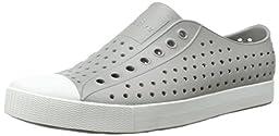 Native Unisex Jefferson Fashion Sneaker,  Pigeon Grey/Shell White,7 US Men/9 US Women