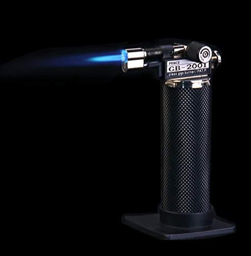 Yizheng Professional Gb2001 Butane Torch Ever Chef Creme Brulee Kitchen Cooking Windproof Refillable Gas Butane Steel Adjustable Flame 1300°C/2500°F Cigar Light BBQ Welding