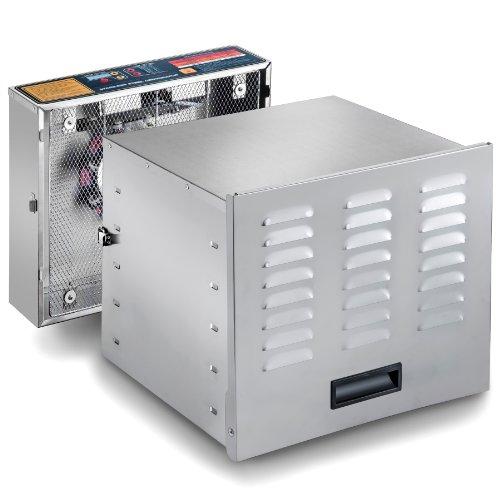 STX INTERNATIONAL  Dehydra STX-DEH-1200W-XLS 10-Tray Stainless Steel Digital Food Dehydrator, 1200-watt (Dehydrators Stainless compare prices)