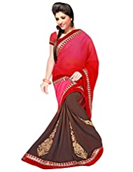 Winza Half Half Faux Georgette Saree With Fancy Blouse