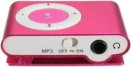 Lecteur mp3 clips en métal de musique USB Media Player Soutien 1--16GB Micro SD / TF rose