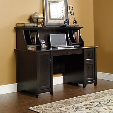 Edge Water Computer Desk with Hutch