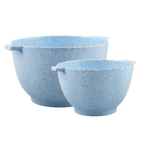 Zak Designs 2-Piece Sprinkles Batter Mixing Bowl Set, Sky Blue (Zak Designs Mixing Bowls compare prices)