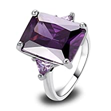 buy Psiroy 925 Sterling Silver Stunning Created Gorgeous Women'S Baguette Cut Filled Ring