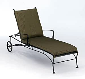 Patio Chaise Lounge Wheels And Reclining Backrest Bradford