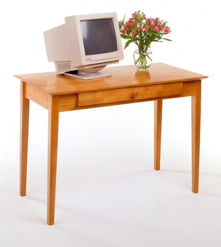 Honey Pine Finish Home Office Computer Writing Desk