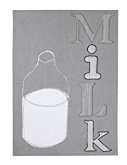 Milk Appliqué Tea Towel