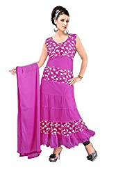 Typify Women's Georgette Unstitched Dress Material (TYPIFY288_Purple_Free Size)