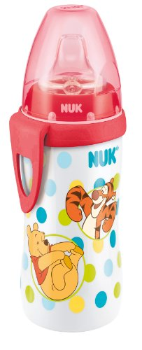 Nuk 10255230 Active Child'S Cup With Soft Silicone Spout Disney Winnie The Pooh Design Suitable For Ages 12 Months And Above Leak-Proof With Clip Bpa-Free Red front-420281