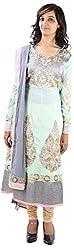 JYOTI Women's Georgette Unstiched salwar Suit (jbam-9, Pista)