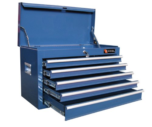 Excel TB2105X-Blue 26-Inch Steel Top Chest, Blue (Toolbox With Drawers compare prices)