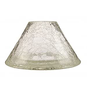 clear crackle glass lamp shade. Black Bedroom Furniture Sets. Home Design Ideas