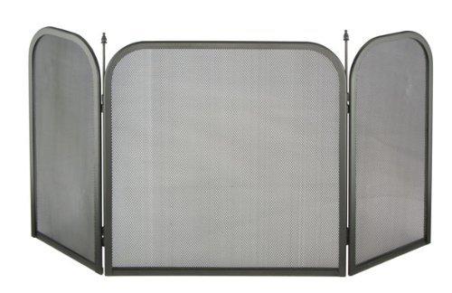 Kamin-Funkenschutz-fr-offene-Kamine-98-cm-x-50-cm-aus-Metall