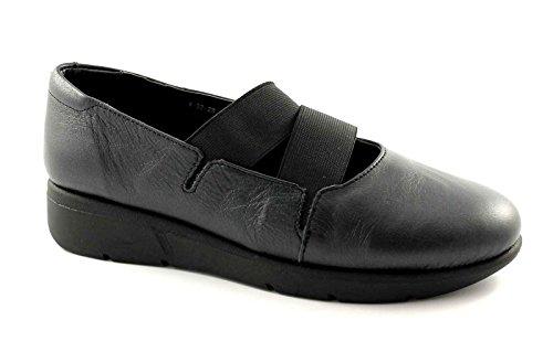 GRUNLAND BENE SC1295 nero scarpe donna ballerine pelle zeppetta 40