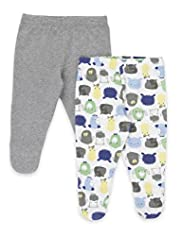 2 Pack Pure Cotton Dog Print Crawler Bottoms