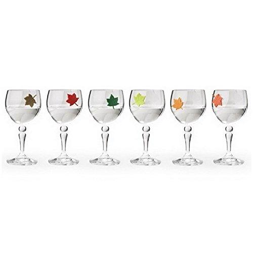 Unique wine charms leaf my glass by qualy design studio Unique wine glasses australia