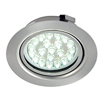 recessed led under cabinet shelf light cool white 12 volt 1 5 watt