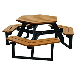 hexagonal commercial picnic tables plastic