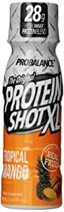 ProBalance The Original Protein Shot XL, Tropical Mango 3 fluid ounce Pack of 24