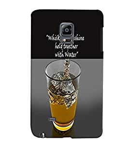 PrintVisa SAMNOTEEDGE-Quotes & Messages Whisky Sunshine Back Cover (Multicolor)