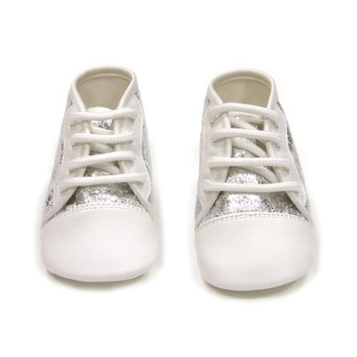 Cambrass Baby Silver Print and Leatherette Boots (3 - 6 Months, Silver)