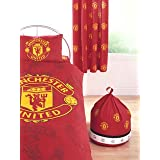 "Manchester United FC Crest Curtains 54"" dropby Sold By Hallways"