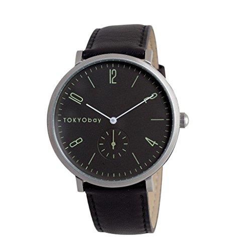 tokyobay-t336-bk-da-uomo-in-acciaio-inox-nero-cinturino-in-pelle-quadrante-nero-smart-watch