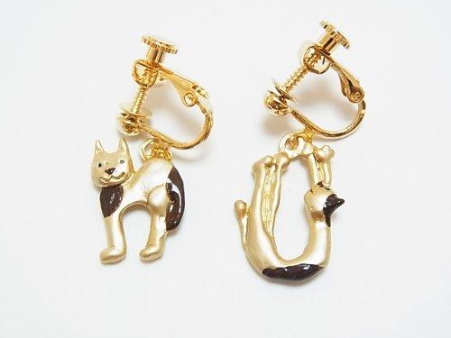 (パルナートポック) Palnart Poc n / u earrings gold cat earrings