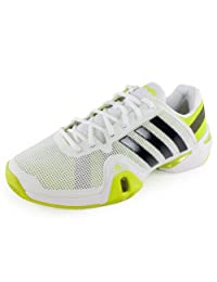 Adidas Men's Adipower Barricade 8 Tennis Shoe-Running White/Night Shade/Solar Slime