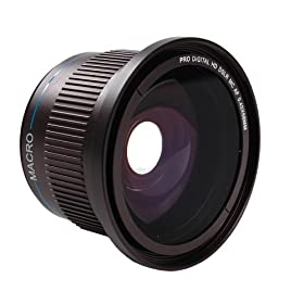 Dot Line Ultra Wide Angle Fisheye Lens direct fit on to 58mm thread Nikon or Canon 18-55mm