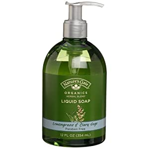 Nature's Gate Organics Liquid Hand Soap, Lemongrass &amp; Clary Sage, 12-Ounce Bottles (Pack of 3)